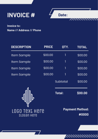 Modern Shapes Invoice