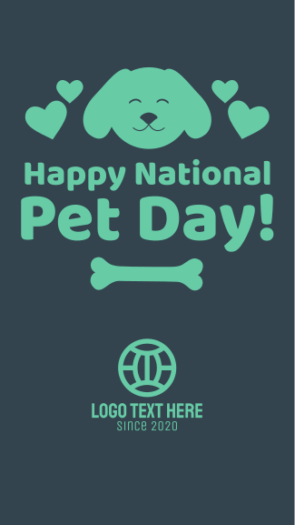 National Pet Day Facebook story