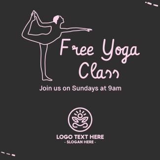 Free Yoga Class Instagram post