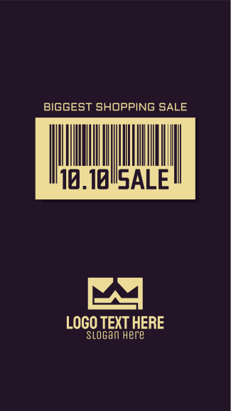 10.10 Sale Barcode Facebook story
