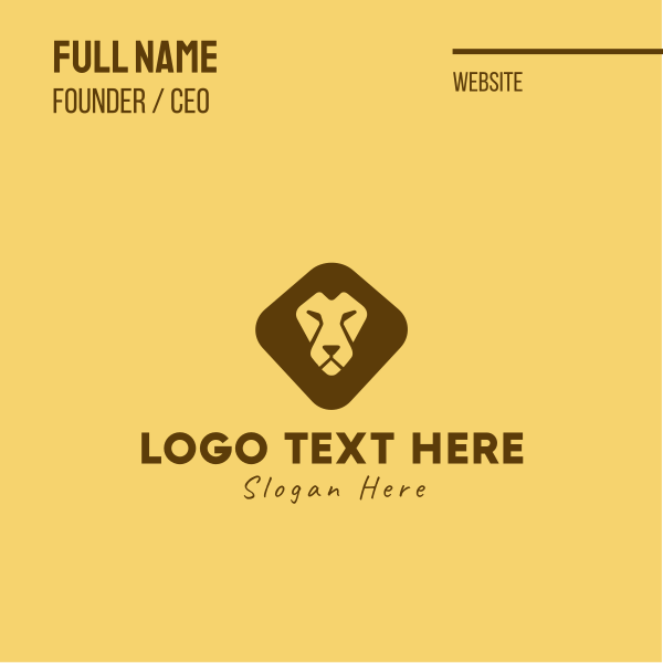 Lion Face Business Card