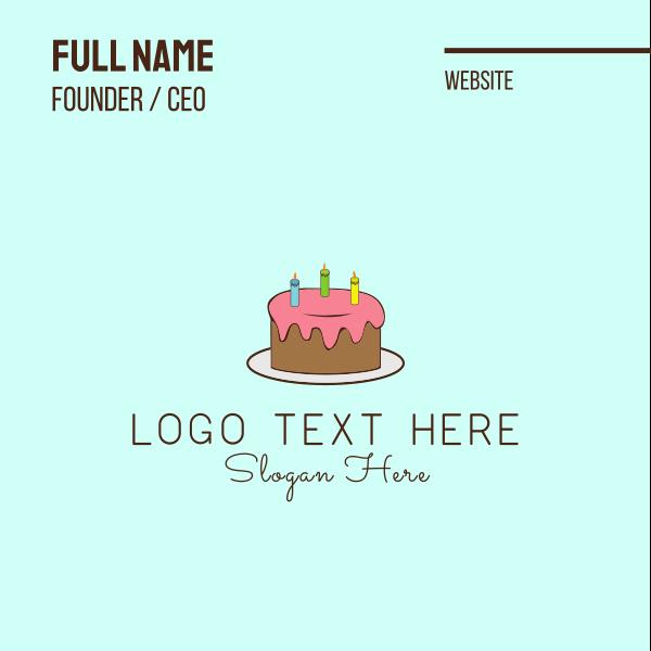 Birthday Cake Business Card