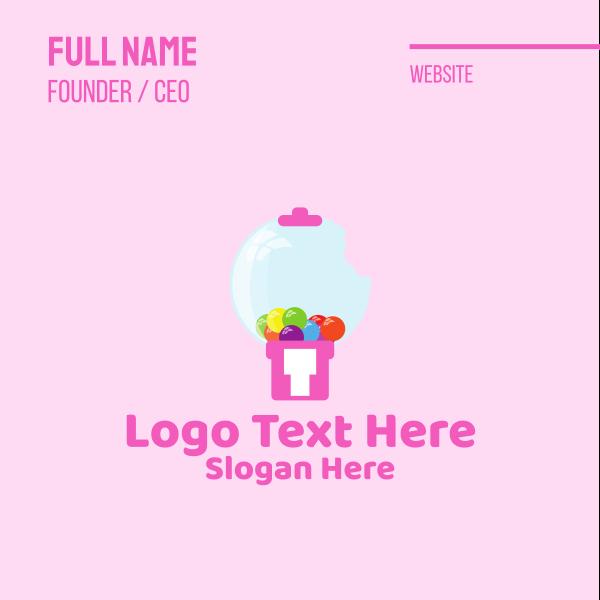 Cute Bubblegum Machine Business Card