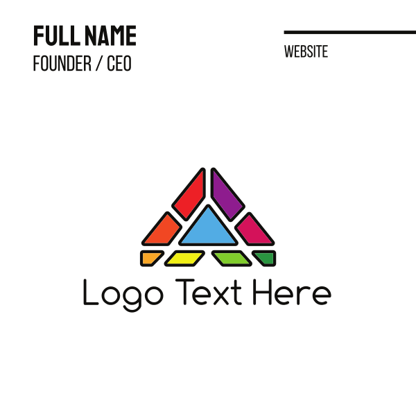 Abstract Pyramid Business Card