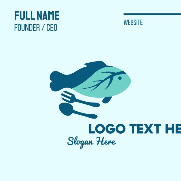 Fish Salad Food Business Card