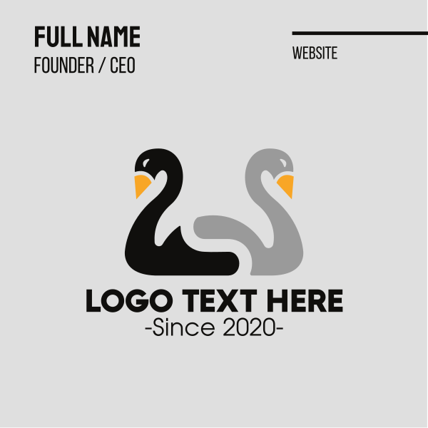 Duck Duo Letter S Business Card