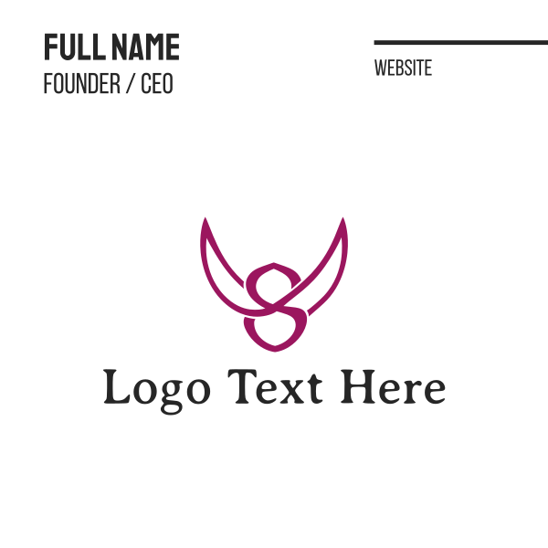 Wing Symbol Business Card