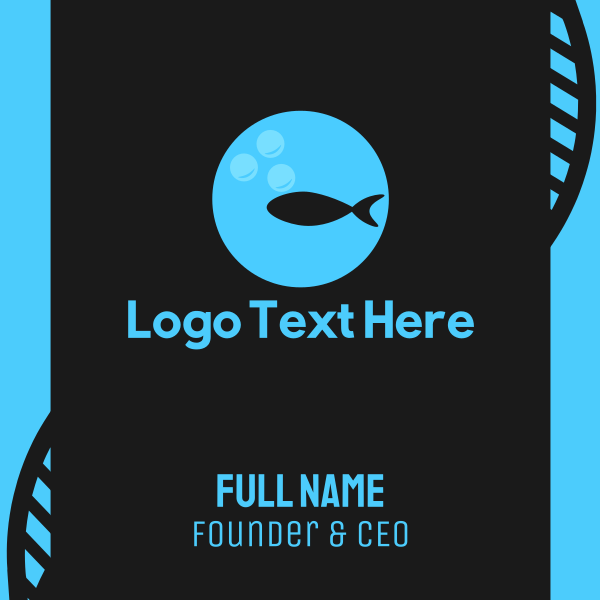 Fish Circle Business Card