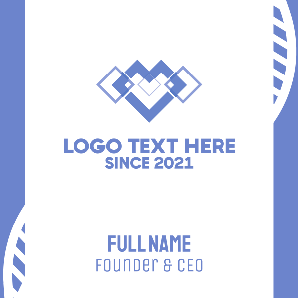 Diamond Heart Business Card