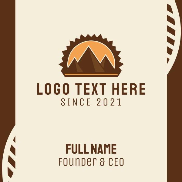 Brown Mountain Pyramids Business Card