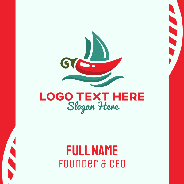 Marine Chili Mexican Restaurant Business Card