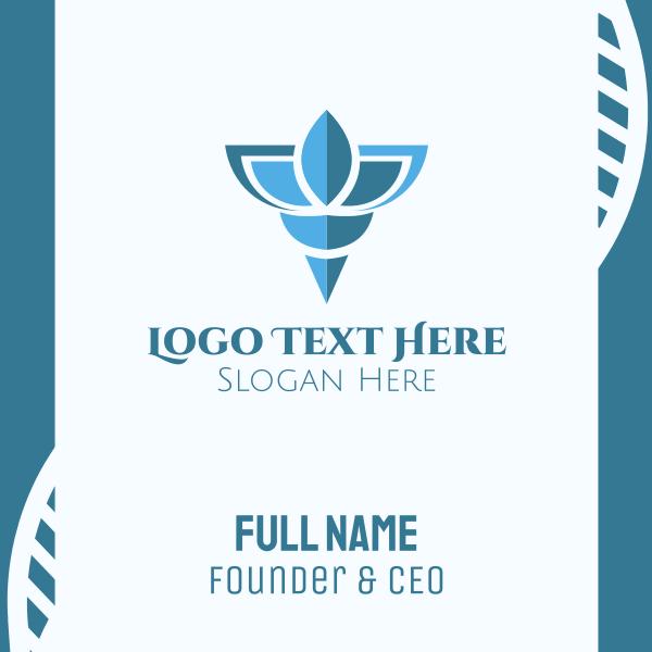 Elegant Blue Shell Business Card