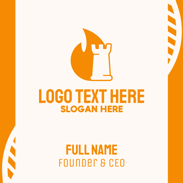 Strategic Flaming Rook Business Card