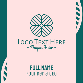 Abstract Leaf Pattern Business Card