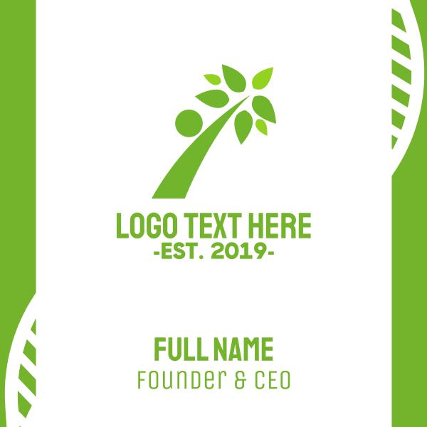 Green Human Branch Business Card