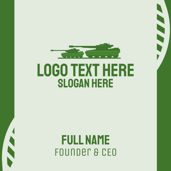 Military Tank Business Card