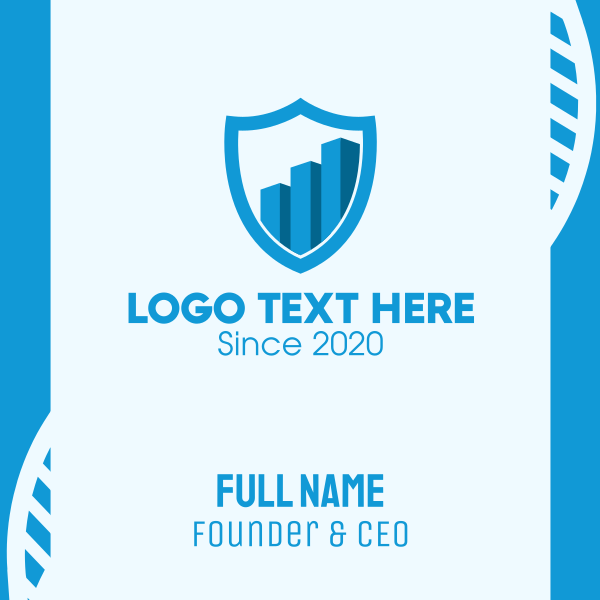 Financial Protection Shield Business Card
