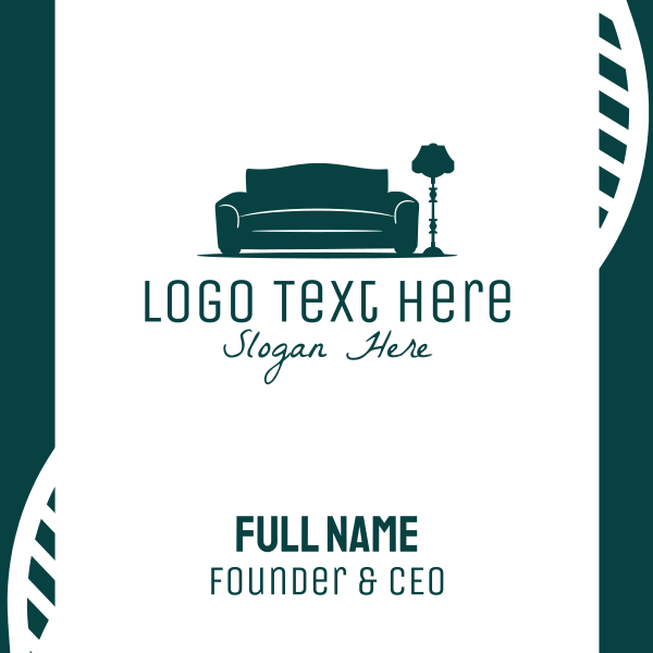 Sofa & Lamp Business Card