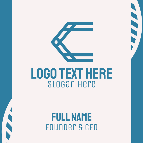 Blue Truss Letter C Business Card