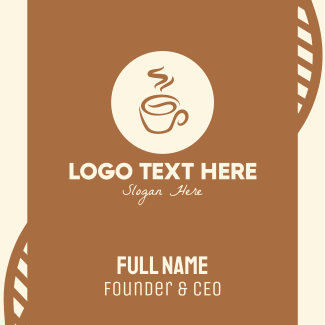 Coffee Drink Business Card