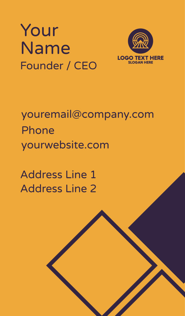 Abstract Mountain Sunrise Business Card