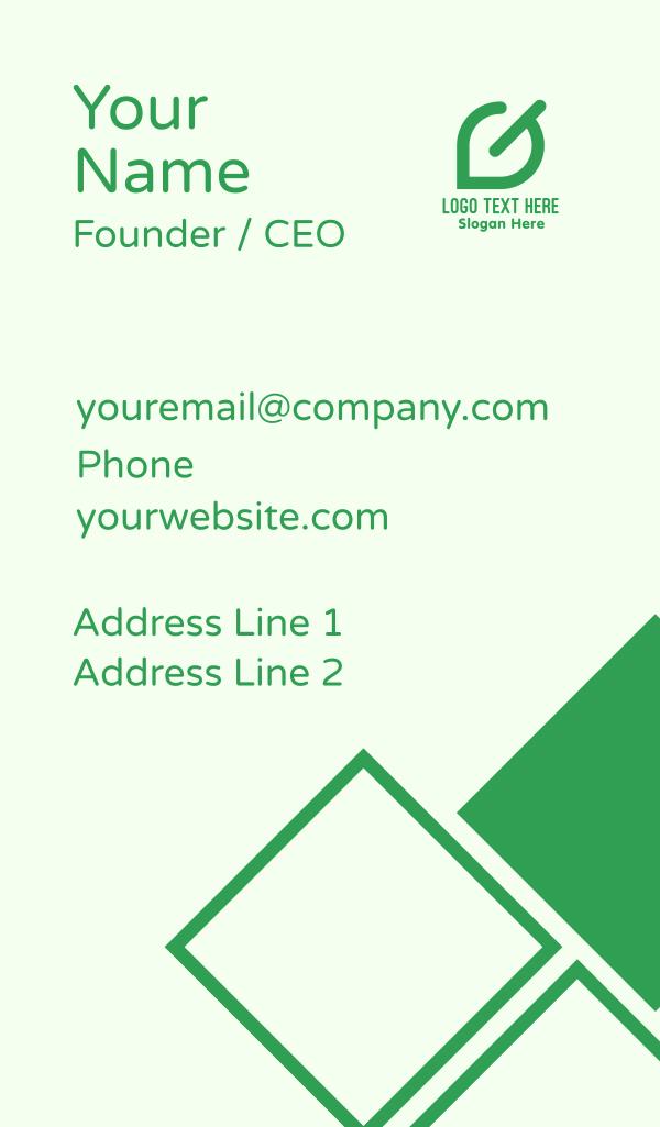 Green Leaf Letter G Business Card