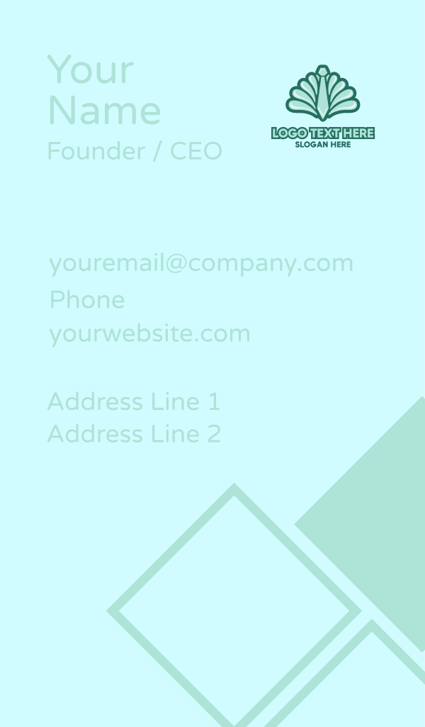 Clam Neck Tie Business Card