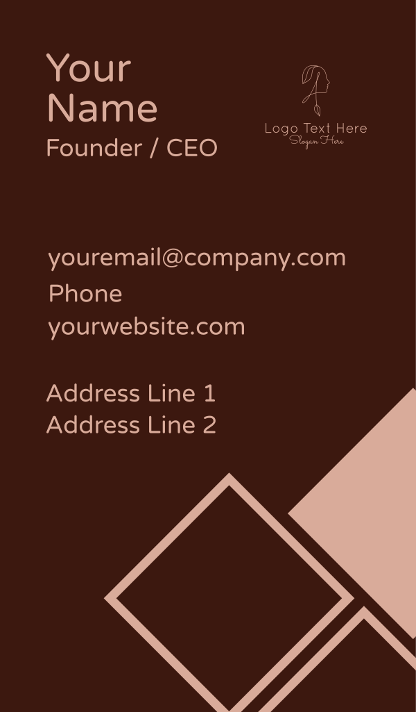 Beauty Woman Letter A Business Card