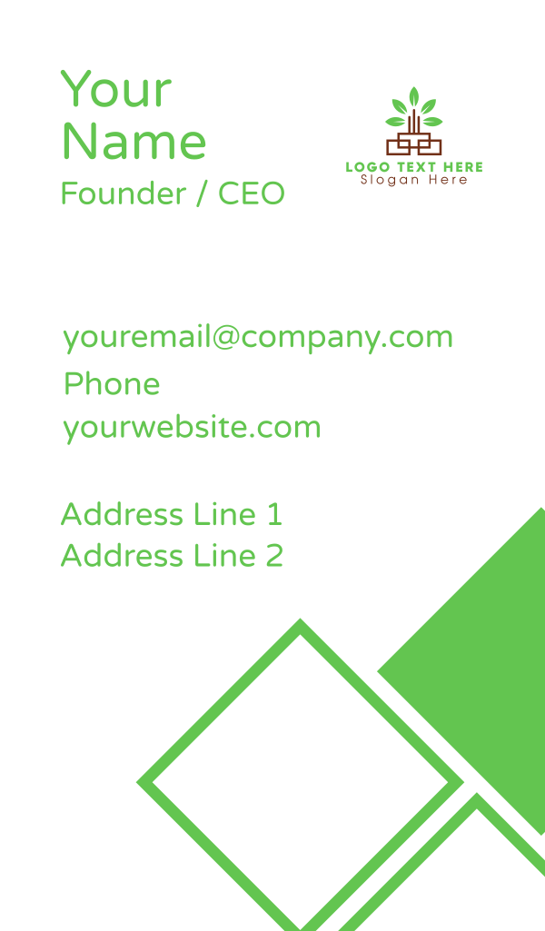 Green Leaf Tower Business Card