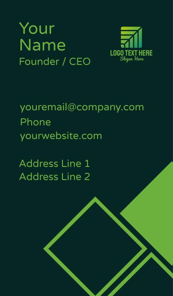 Green Environmental Company Business Card