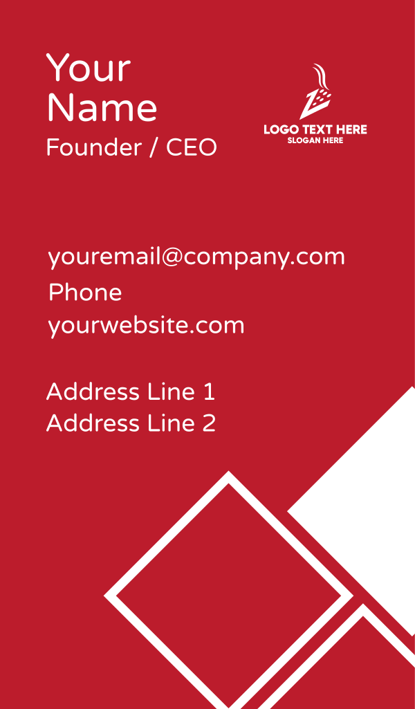 Pizza Letter Z Business Card