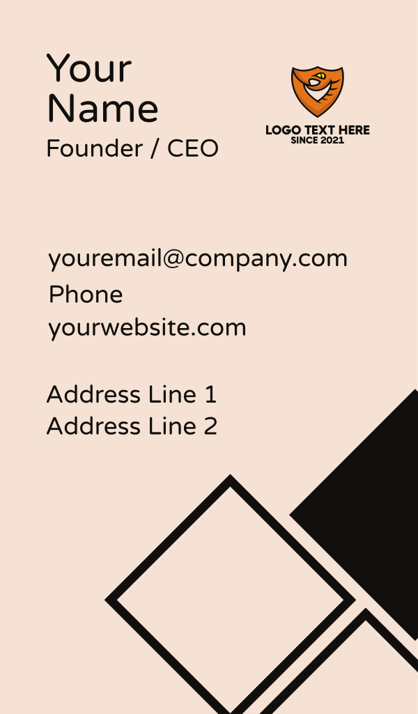 Snake Shield Security Business Card