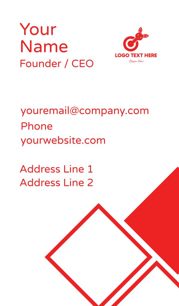 Bunny Target Business Card