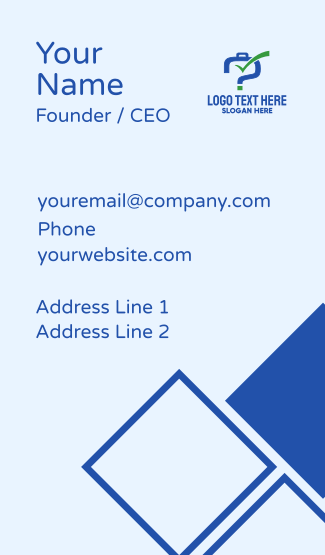 Blue Luggage Question Business Card