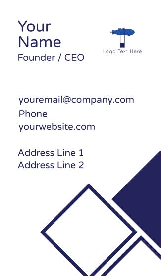 Blue Airship Business Card