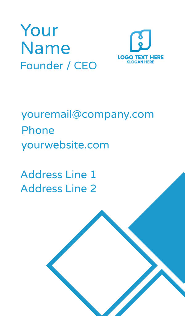 Technology Letter H Business Card