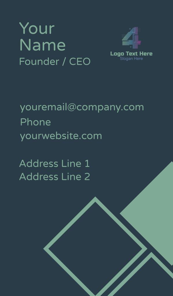 Modern Glitch Number 4 Business Card