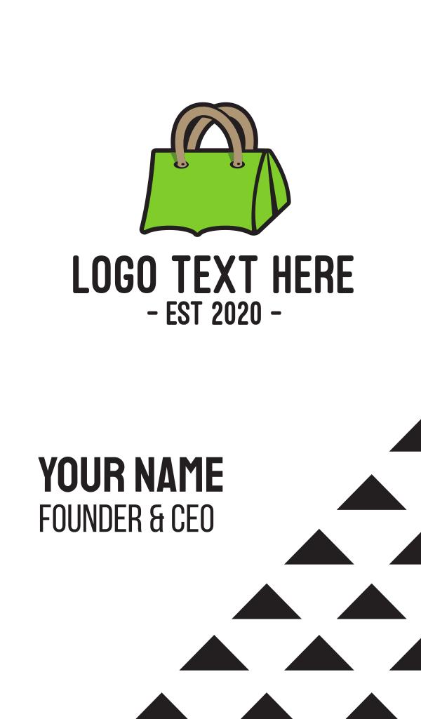 Green Tent Bag Business Card