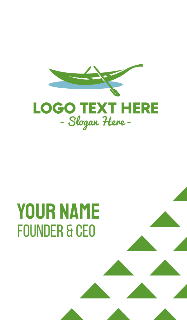 Leafy Rowboat Boat Business Card
