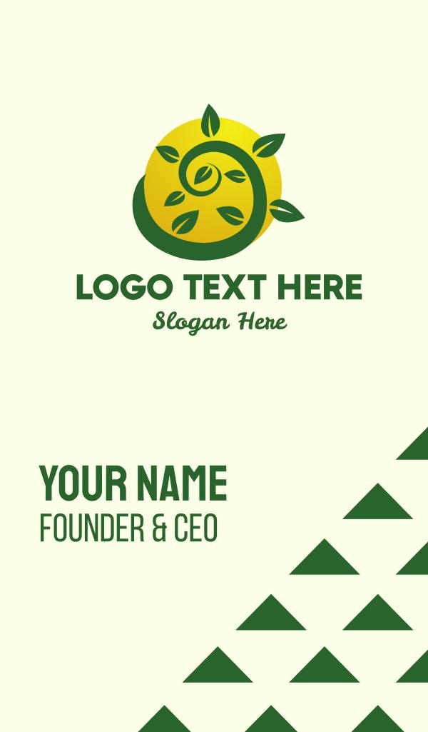 Organic Eco Farm Business Card