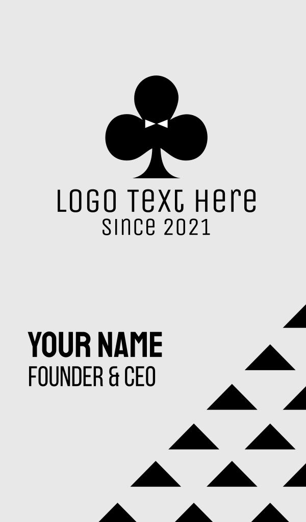 Black Poker Tuxedo Business Card