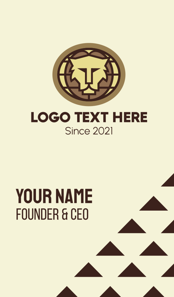 Global Lion Conservation Business Card