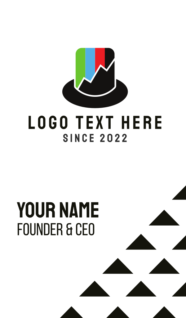 Top Hat Chart Business Card