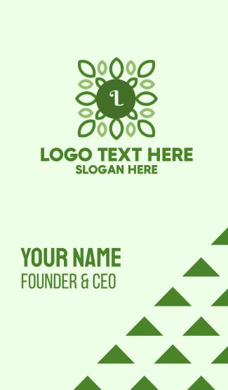 Green Organic Lettermark Business Card