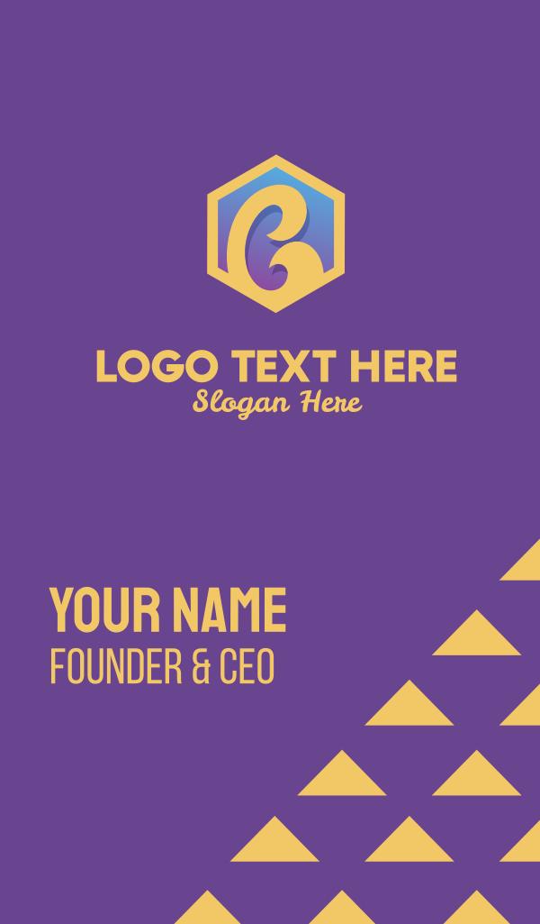 Golden Letter C Business Card