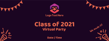 Graduation Party Invitation Facebook cover