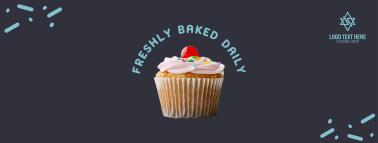 Pink Cupcake Facebook cover