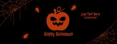 Halloween Scary Pumpkin Facebook cover