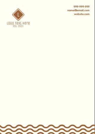 Noodle Pattern Letterhead