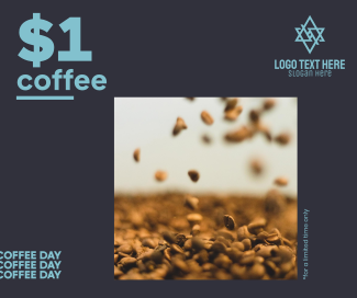 $1 Coffee Day Facebook post